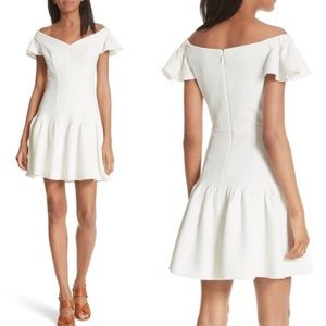 NWOT rebecca Taylor textured Off Shoulder Dress